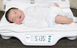 Bé trai sơ sinh có cân nặng 'khủng' hơn 5,1kg
