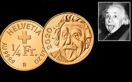 """Đồng xu nhỏ nhất thế giới bằng vàng khắc hình ảnh của """"bộ não vĩ đại bậc nhất lịch sử"""""""