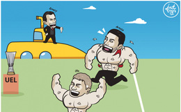 Biếm họa 24h: HLV Unai Emery thách thức MU và Arsenal