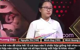 Câu hỏi Olympia tưởng dễ nhưng cả 4 thí sinh không trả lời được: 'Chia 15 cái kẹo vào 5 hộp giống hệt nhau?'