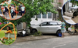 Xôn xao hiện trường vụ nữ tài xế đâm thẳng vào xe máy, khiến 4 người trong gia đình bị thương