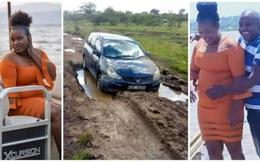 Thấy xe ô tô mắc kẹt trong bùn, người dân tới giúp thì chứng kiến cảnh tượng không ngờ bên trong