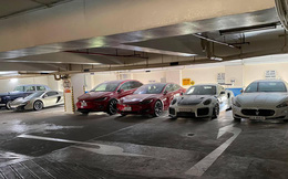 Choáng ngợp với bãi đỗ toàn siêu xe, xe siêu sang trị giá cả trăm tỷ đồng giữa lòng Sài Gòn