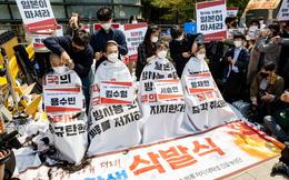 24h qua ảnh: Sinh viên Hàn Quốc cắt tóc phản đối Nhật xả phóng xạ ra biển