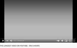 Có gì trong video sở hữu thời lượng dài 1 tháng trên YouTube?