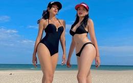 Kỳ Duyên, Minh Triệu diện bikini khoe vóc dáng nóng bỏng trong tiệc sinh nhật