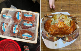 Cua siêu gạch Na Uy 290 nghìn/kg hot trên chợ mạng nhưng chị em đừng vội ham rẻ
