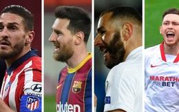 """Cuộc đua vô địch La Liga 2020/2021: Từ """"tam mã"""" thành """"tứ mã"""""""
