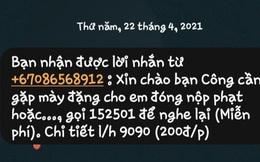 """CSGT TP HCM nói gì về tin nhắn """"dụ"""" đóng phạt """"nguội""""?"""