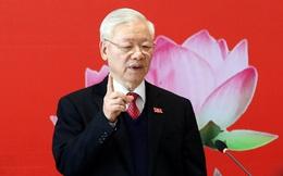 Tổng Bí thư Nguyễn Phú Trọng cùng 48 người ứng cử đại biểu Quốc hội khóa XV tại Hà Nội