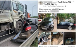 Chủ Camry vừa đăng bán xe, vài tiếng sau đã gặp tai nạn kinh hoàng trên cao tốc