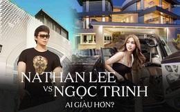 """Gia tài Nathan Lee - Ngọc Trinh: Bên có từ villa Beverly Hills 12.000m2 đến bạch dinh 600 tỷ, bên """"yêu nữ đồ hiệu"""" nức tiếng Vbiz"""