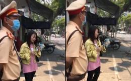 Cô gái chạy xe rẽ không xi nhan, CSGT Đà Nẵng yêu cầu hát một bài rồi xem xét