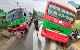 Xe buýt tông xe máy và xe đạp khiến bé gái lớp 5 tử vong trên đường đi học