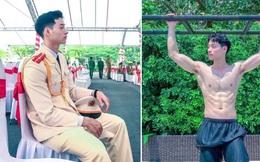 Chàng trai tốt nghiệp loại giỏi Học viện Cảnh sát Nhân dân, sở hữu 'body 6 múi' đốt mắt