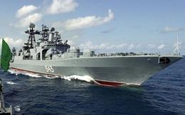 Chiến hạm Shaposhnikov của Nga phóng tên lửa hành trình Kalibr trên Biển Nhật Bản