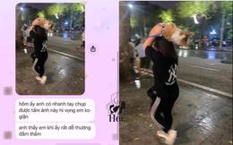 Thấy cô gái đội chó cưng lên đầu chạy trong mưa, chàng trai lao ra xin số và tin nhắn bất ngờ sau khi về nhà