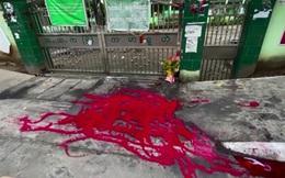 Người biểu tình Myanmar đổ sơn đỏ khắp đường phố Yangon