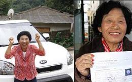 Cụ bà thi trượt bằng lái 959 lần, tới lần 960 mới đỗ ai ngờ được tặng luôn xế hộp để động viên
