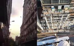 """Xôn xao dòng trạng thái của người đàn ông trước khi nhảy lầu trên phố Hà Nội: """"Cuộc sống quá mệt mỏi"""""""