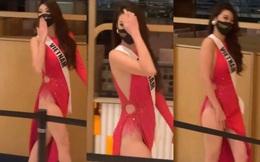 Diện váy xẻ cao tới gần eo đi thi Miss Universe, hoa hậu Khánh Vân gây tranh cãi