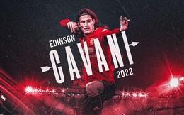 CHÍNH THỨC: Edinson Cavani gia hạn hợp đồng với M.U