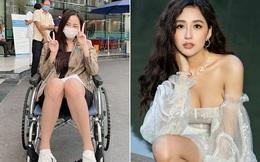 Mai Phương Thúy ngồi xe lăn khiến loạt sao Việt lo lắng, gửi lời hỏi thăm