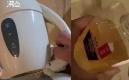 Quay clip tè bậy, khạc nhổ vào bình đun nước và chai sữa tắm ở khách sạn, chàng trai tuyên bố 1 câu xanh rờn khiến dân tình rợn người