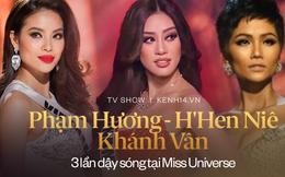 Phạm Hương - H'Hen Niê - Khánh Vân: 3 lần khiến fan sắc đẹp dậy sóng tại Miss Universe