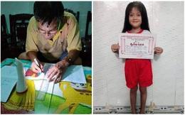 Cháu gái không có giấy khen, ông nội tự tay làm nên tấm bằng quý giá trao tặng