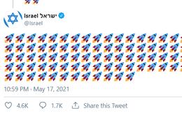 """Bộ Ngoại giao Israel đăng 12 bài tweet chỉ toàn hình tên lửa, chốt lại bằng một câu """"lạnh sống lưng"""""""