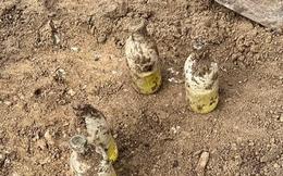 Đào được nhiều chai thủy tinh kì lạ trong vườn, ít phút sau người đàn ông tái mặt gọi ngay cảnh sát