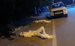 """2 cán bộ y tế nằm vật bên vệ đường lúc 4 giờ sáng gây hoảng hốt: """"Chúng cháu chỉ cần ngủ khoảng 15 phút"""""""