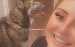 Vừa mở mắt thấy ngay con sói, cô gái giật bắn mình, dân mạng lại được phen cười bò