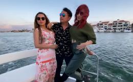 Sinh nhật chồng Hương Thủy tổ chức tại biệt thự 3 triệu đô, các nghệ sĩ được đi du thuyền