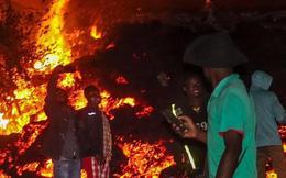Núi lửa phun trào nhấn chìm nhà cửa ở Congo, 15 người thiệt mạng