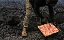 Độc đáo nướng bánh pizza trên núi lửa thách thức mọi thực khách