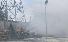 Cháy lớn thiêu rụi nhà xưởng rộng hàng nghìn mét vuông