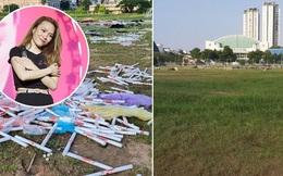 SVĐ Phú Thọ đã được dọn sạch rác, một bộ phận fan Mỹ Tâm vẫn vào tận bài cảm ơn để tranh cãi
