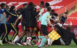 Cầu thủ tẩn nhau trên sân, mưa thẻ đỏ xuất hiện ở Ligue 1