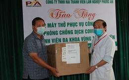 Trao tặng máy thở điều trị Covid-19 cho Bệnh viện vùng Tây Nguyên