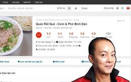 """Vạ miệng trên mạng xã hội, quán phở của Nghệ sĩ Đức Hải ở Sài Gòn hứng """"bão 1 sao"""", thậm chí một quán trùng tên ở Hà Nội cũng bị vạ lây"""