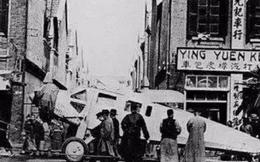 """Ảnh cũ về nhà Thanh: Chính quyền mua chiếc máy bay đầu tiên, người dân hiếu kỳ kéo nhau ra xem """"con vật khổng lồ"""""""