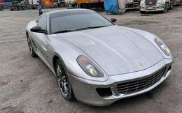 Xuất hiện nhiều hình ảnh cho thấy Ferrari 599 GTB vừa về Việt Nam có những trang bị lạ lùng, khác chiếc từng của đại gia cà phê Đặng Lê Nguyên Vũ
