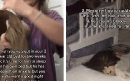 Người phụ nữ tập cho con ngủ một mình, ý tưởng đáng sợ khiến ông chồng khóc thét