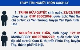 Tây Ninh thông báo khẩn tìm người trốn cách ly tập trung
