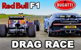 Bugatti Chiron tranh tài với xe đua F1 và cái kết khó không phải ai cũng đoán đúng