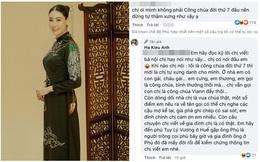 """Bị dân mạng mỉa mai nhận vơ là công chúa triều Nguyễn, Hà Kiều Anh đáp trả: """"Bà nội nói chứ chị có nói đâu"""""""