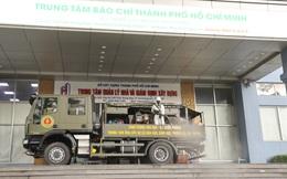 Bộ Quốc Phòng phun khử khuẩn Trung tâm báo chí TP.HCM để phòng chống dịch Covid-19