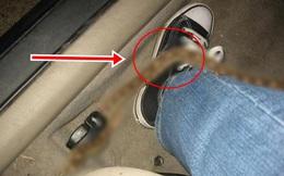 Đang lái xe thì thấy ngứa chân, vừa cúi xuống nhìn, người đàn ông muốn nhảy bật khỏi ghế vì sợ hãi